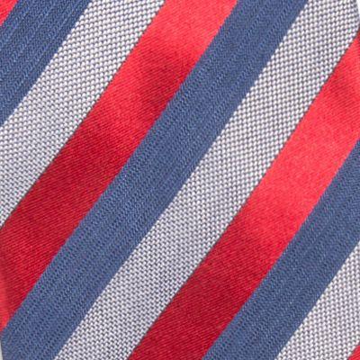 Red Ties: Red Countess Mara Aiken Stripe Tie
