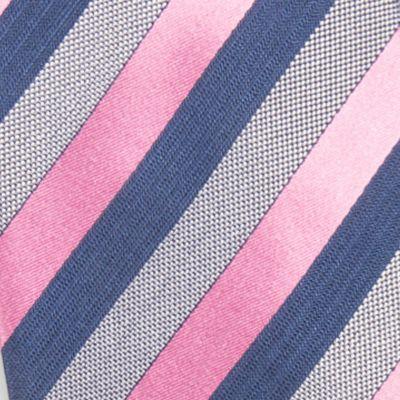 Red Ties: Pink Countess Mara Aiken Stripe Tie