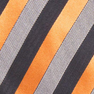 Red Ties: Orange Countess Mara Aiken Stripe Tie