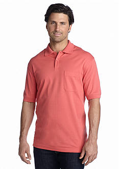 Saddlebred® Short Sleeve Textured Pocket Box Polo