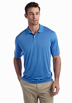 Saddlebred® Short Sleeve Stripe Polyester Polo