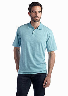 Saddlebred® Short Sleeve Stripe Slub Polo
