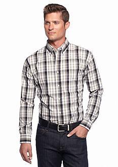 Saddlebred Long Sleeve Poplin Large Plaid Shirt