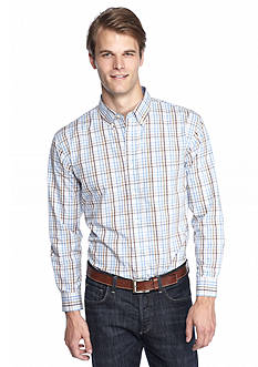 Saddlebred Long Sleeve Poplin Mini Gingham Shirt