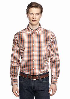 Saddlebred Long Sleeve Poplin Plaid Shirt