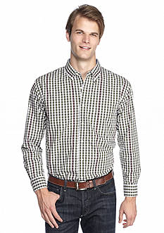 Saddlebred Long Sleeve Poplin Gingham Shirt