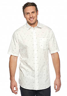 Saddlebred® Big & Tall Short Sleeve Palm Print Shirt