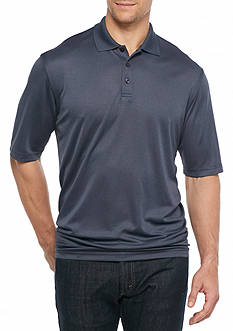 Saddlebred® Big & Tall Short Sleeve Marled Polo Shirt
