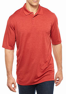 Saddlebred Big & Tall Short Sleeve Marled Polo Shirt