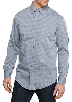 Saddlebred® Big & Tall Windowpane Woven Shirt