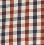 Orange Mens Long Sleeve Woven Shirts: Russet Saddlebred Long Sleeve Mini Check Poplin Shirt