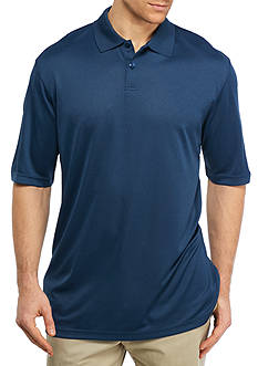 Saddlebred® Big & Tall Short Sleeve Solid Poly Polo