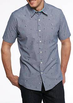 Saddlebred 1888 Short Sleeve Chambray Palm Woven Shirt