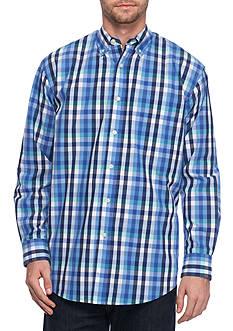 Saddlebred Multi Gingham Long Sleeve Poplin Shirt