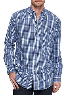 Saddlebred Long Sleeve Blue Plaid Poplin Shirt