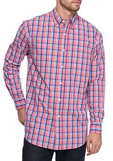 Saddlebred Long Sleeve Pink Plaid Poplin Shirt