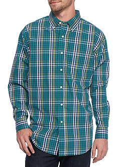 Saddlebred Long Sleeve Multi Gingham Poplin Shirt