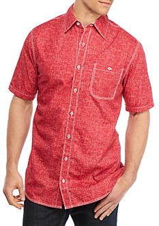 Saddlebred Big & Tall Short Sleeve Speck Print Woven Shirt
