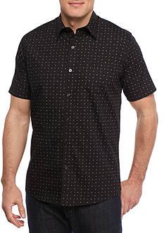 Saddlebred 1888 Short Sleeve Multi Geo Print Woven Shirt