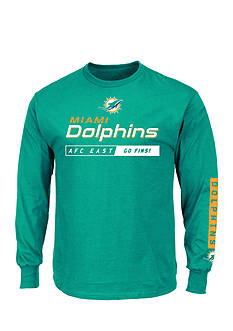 Majestic Miami Dolphins Primary Receiver Graphic Tee