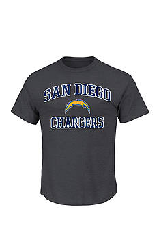 Majestic San Diego Chargers Heart and Soul III Graphic Tee