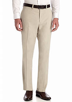 Louis Raphael Tailored Herringbone Flat Front Pants