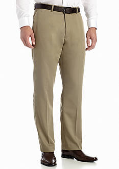 Louis Raphael Big & Tall Tailored Wool-like Flat Front Pant