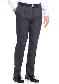 Louis Raphael Tailored Fit Core Shadow Column Pleated Pants