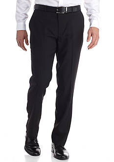 Louis Raphael Tailored Fit Core Shadow Column Flat Front Pants