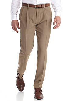 Louis Raphael Tailored Fit Cross Hatch Pants