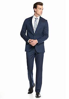 Kenneth Cole Reaction Slim-Fit Stripe 2-Piece Suit