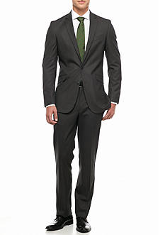 Kenneth Cole Reaction Slim Fit Plaid 2-Piece Suit