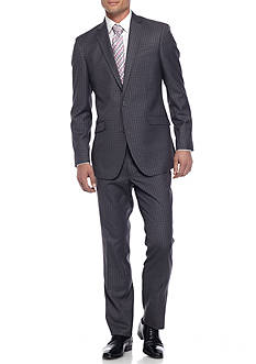 Kenneth Cole Reaction Slim-Fit Windowpane Suit