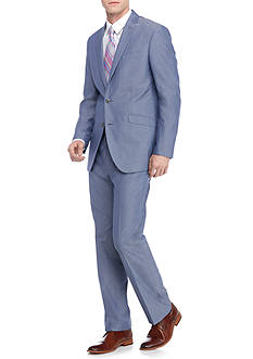 Kenneth Cole Reaction Slim-Fit Chambray Suit