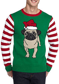Ugly Christmas Sweater Pug Sweater
