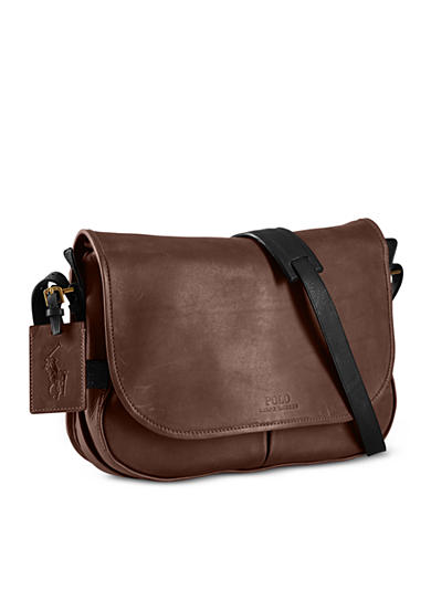 Polo Ralph Lauren Two-Toned Leather Messenger Bag