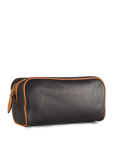 Polo Ralph Lauren Two-Toned Leather Shaving Bag