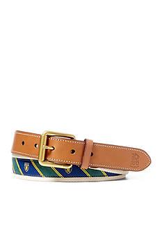 Lauren Ralph Lauren Leathergoods Tie-Overlay Webbed Belt