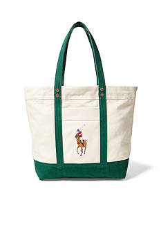 Lauren Ralph Lauren Big Pony Canvas Tote