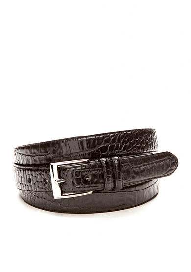 Polo Ralph Lauren Big & Tall 1 1/8 in. Faux Crocodile Embossed Genuine Leather Belt