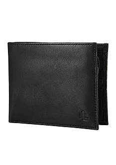 Lauren Ralph Lauren Leathergoods Black Burnished Passcase