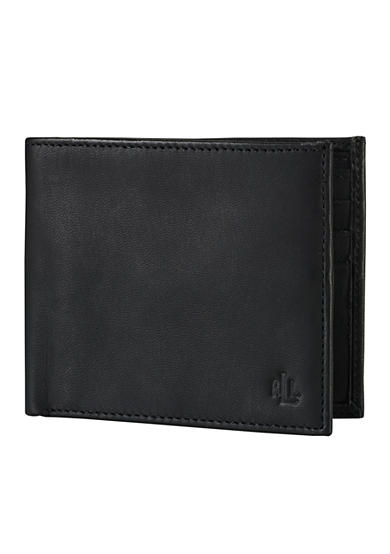 Lauren Ralph Lauren Leathergoods Black Burnished BiFold