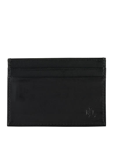 Lauren Ralph Lauren Leathergoods Burnished Black Money Clip