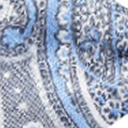 Men: Madison Accessories: Silver/Blue Madison Windjammer Paisley Bow Tie and Pocket Square Set