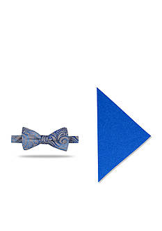 Madison Pre-Tied Babbit Vine Bow Tie With Pocket Square