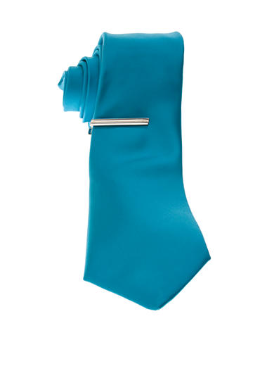 Madison Slim Tie with Tie Bar