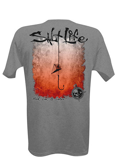 Salt Life Hook Line and Sinker Fade Tee