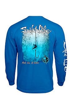 Salt Life Hook Line and Sinker Fade Long Sleeve Graphic Tee
