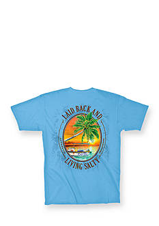 Salt Life 'Laid Back and Living Salty' Graphic Tee