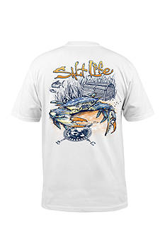 Salt Life Blue Crab Short Sleeve Graphic Pocket Tee